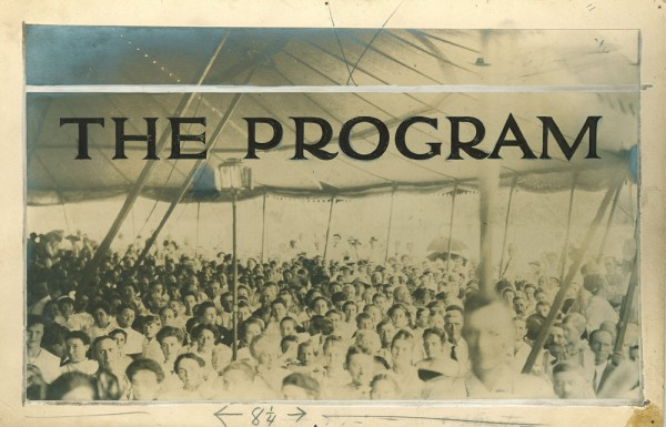 The Program 1910 Chataqua